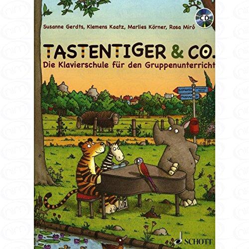 Tastentiger + Co - arrangiert für Klavier - mit CD [Noten/Sheetmusic] Komponist : Gerdts Susanne