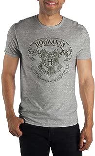 Harry Potter Hogwarts Crest and Latin Motto Draco Dormiens Nunquam Titillandus Women's Gray T-Shirt Shirt