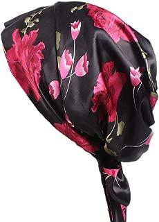 Soft Satin Head Scarf Sleeping Cap Hair Covers Turbans Bonnet Headwear for Women