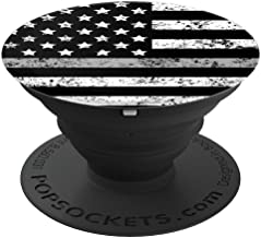 Correctional Officer Thin Gray Line Flag Corrections Gift - PopSockets Grip and Stand for Phones and Tablets