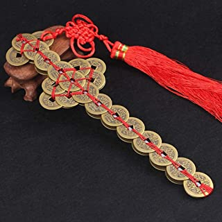 Laogg Chinese Coins Feng Shui,Copper Money Sword Ornaments Coins I-Ching Coins Fortune Coins for Luck Health and Wealth