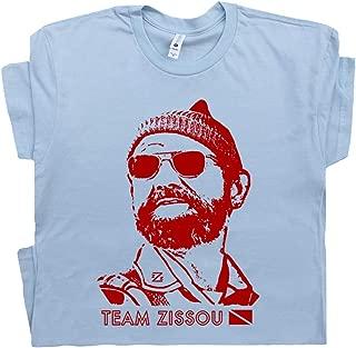 Team Zissou T Shirt The Life Aquatic Tee Funny Vintage Retro Scuba Diving Movie Nautical Intern