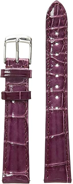 16 mm. Plum Alligator Strap