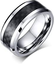 JTY Tungsten Carbide Ring 8 mm polishing Bevel polishing Proposal Ring Shows The Fashion Personality Mature Steady Man Charm