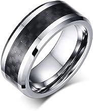 JTY Tungsten Carbide Ring 8 mm polishing Bevel polishing Proposal Ring Shows The Fashion Personality Mature Steady Man Charm