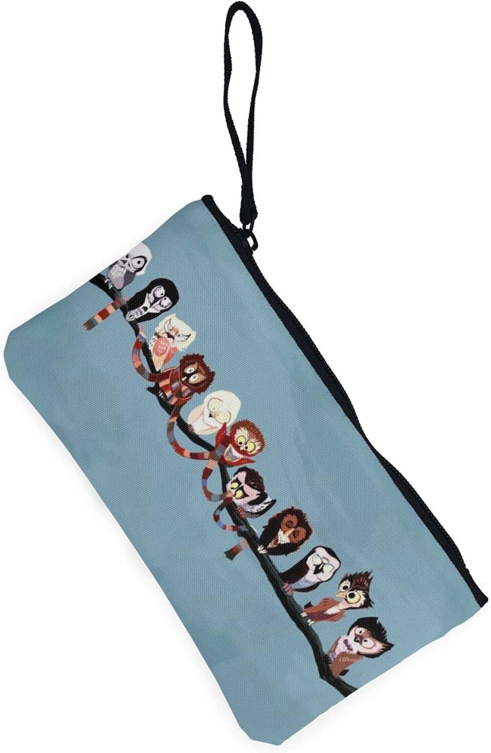 AORRUAM Animal funnyanimals Canvas Coin Purse,Canvas Zipper Pencil Cases,Canvas Change Purse Pouch Mini Wallet Coin Bag