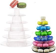 Velidy 6 Tiers Round Macaron Tower Stand Cake Display Rack for Wedding Birthday Decor