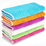 Rosy May Kitchen Towels, Dish Cloths, Bamboo Fiber, Magically removes Oil and Dirt Without Detergent, Easy to Remove...