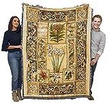 Music in The Garden - Liz Jardine - Cotton Woven Blanket Throw - Made in The USA (72x54)