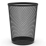 Zuvo Metal Wire Mesh Waste Basket Garbage Trash Can For Office Home Bedroom