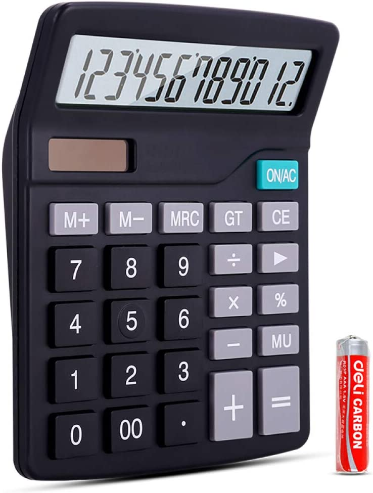 Electronic Max 52% OFF Calculator Dual-Power Solar trust AA and Batteries