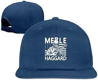 Adult Country Music Merle Haggard Hag Flat Bill Hat Black