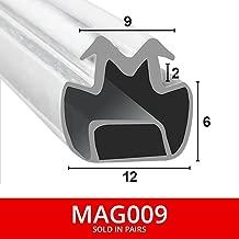 2/Meter lang aus zwei magnetisch Dusche Dichtungen f/ür Kan/äle passt in 11/mm Kanal weicher flexibler faltbar wei/ß Gummi T mit Magnet mag007