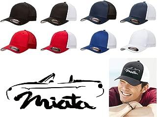 1999-04 Mazda Miata Classic Outline Design Flexfit Trucker Hat Cap