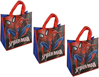 Disney Marvel Spider-Man Large 15.5-inch Reusable Shopping Tote or Gift Bag, Blue, Red