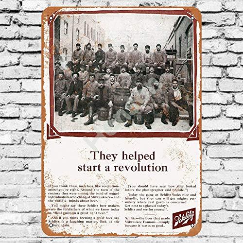 Henson 1965 Schlitz bier traditionele vintage Tin teken Logo 12 * 8 reclame in het oog springende muur decoratie