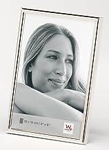 Silber Wirbelt Bilderrahmen 10x15 Freistehender und an der Wand montierbarer Fotorahmen mit Glas