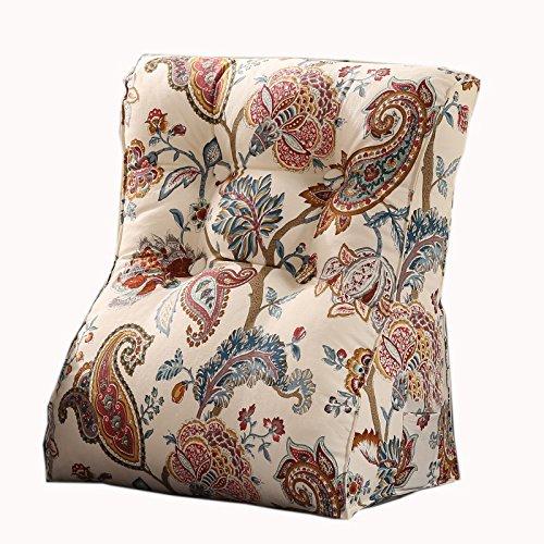 uus Country Style Triangle Canapé Coussin Siège de la chaise Coussin de coussin de motif utile Ralentissement lent Design ergonomique Dossier confortable 45 * 55cm / 55 * 60cm ( taille : 55*60cm )
