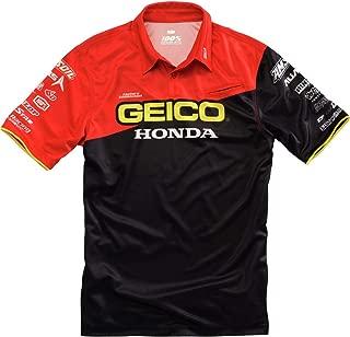 100% Geico Honda Pit Shirt (X-Large) (Black)
