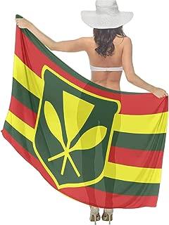 Women Native Hawaiian Flag Fashion Scarf Lightweight Wrap Shawl Beach Scarf Swim