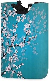 N\A Panier à Linge, Fleur de Cerisier Fleur Sakura paniers de Rangement pour Linge vêtements Pliables Sac Organisateur de ...
