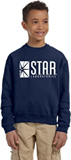 Star Lab Unisex Youth Pullover Crew Neck Sweat Shirt