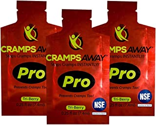 CrampsAWAY Pro - 3 Pack All Natural Instant Cramp Relief, Prevents Cramps Too! Leg, Muscle, and Nighttime Remedy | Safe and Effective Non Drug, NSF Certified for Sport