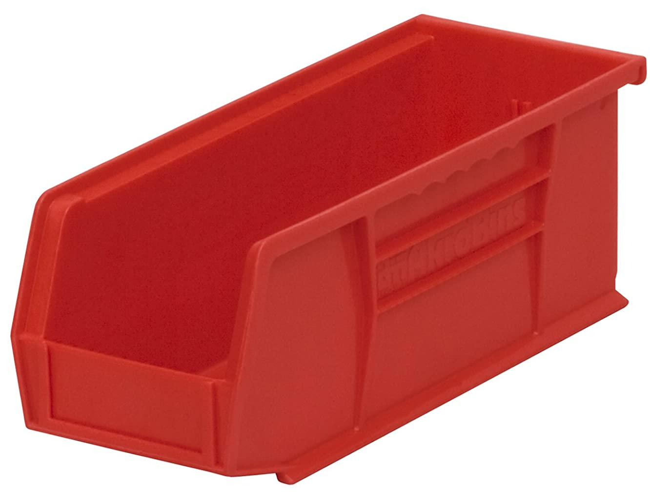 Akro-Mils 30224 Plastic Storage Stacking Hanging Akro Bin, 11-Inch by 4-Inch by 4-Inch, Red, Case of 12