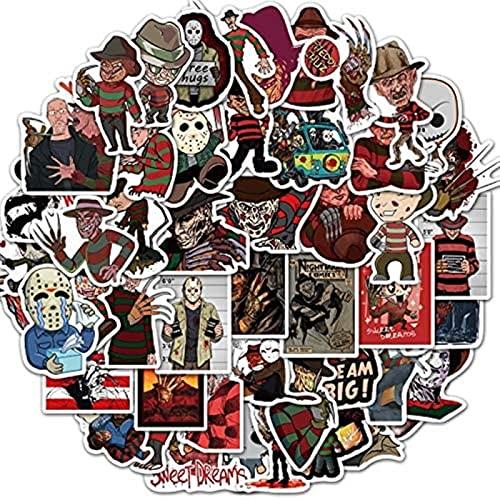 conasmyy 50 Piezas, Personaje de película de Terror, Rey Fantasma, Pegatinas de Graffiti, Personalidad Personalizada, decoración de Ordenador