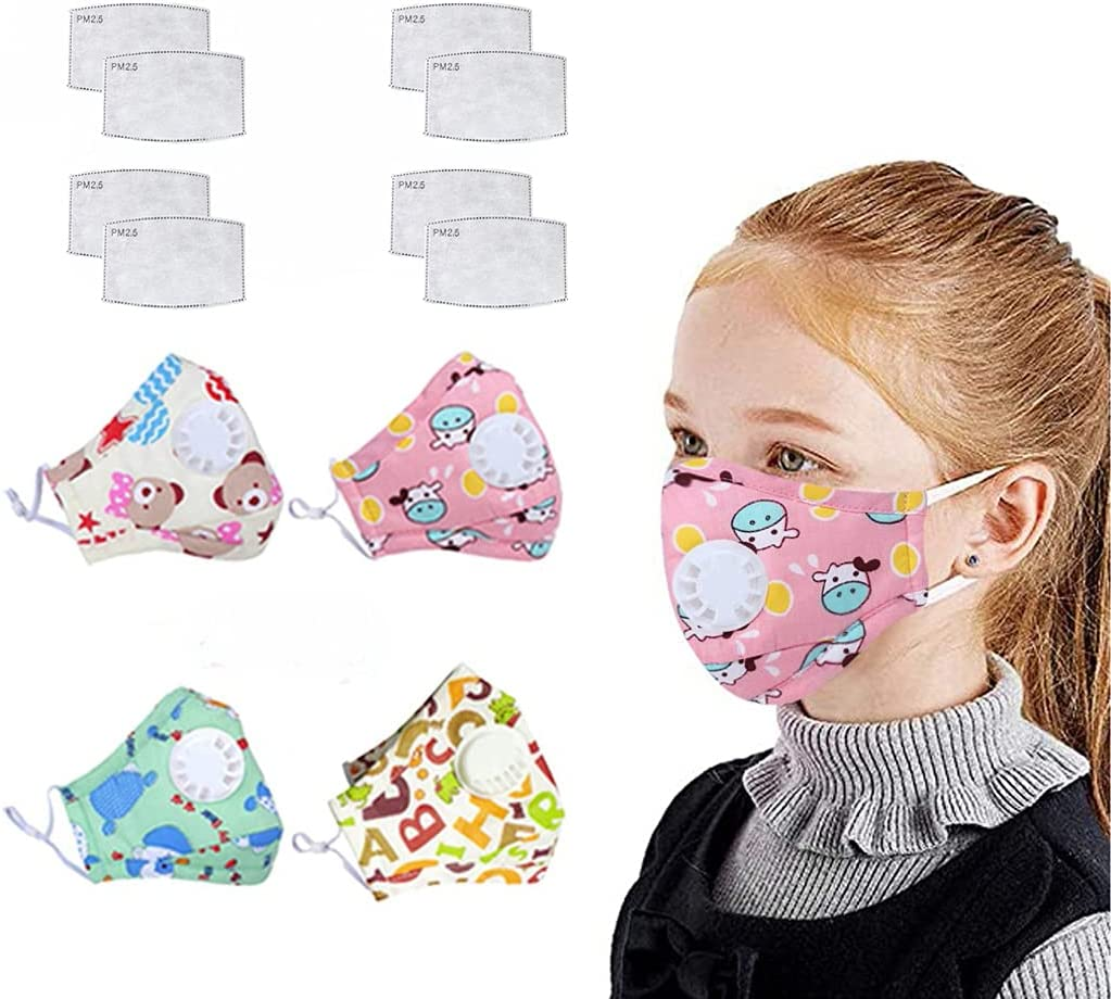4 PCs Children's Price reduction Face Reusable with trust Valv Bandanas Breathing