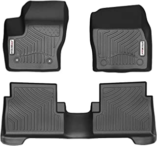 YITAMOTOR Floor Mats for Ford Escape, Custom fit Floor Liners for 2015-2019 Ford Escape, 1st and 2nd Row Heavy Duty Rubber