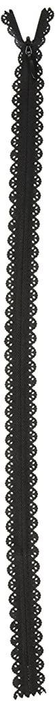 Products From Abroad Zipper Lace 40cm, 19mm Wide, Black 40cm/19mm