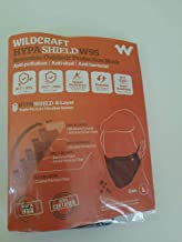 Wildcraft W95 Hypashield Reusable Mask (Black, Pack of 5), large