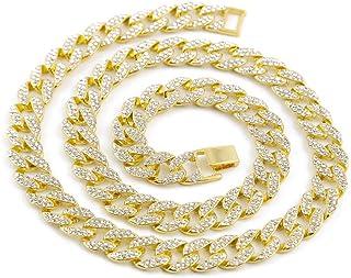Gargantilla de diamantes simulados Cadena de 14 mm para
