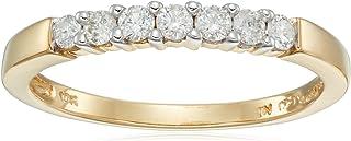 10k Gold Round 7-Stone Diamond Ring (1/4 cttw, H-I Color, I2-I3 Clarity)