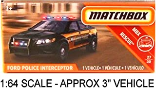 "Matchbox Power Grabs Ford Police Interceptor Taurus State Police Black (Approx: 3"" Vehicle)"