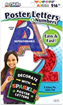 ArtSkills Poster Letters and Numbers, A-Z and 0-9, Assorted, Holographic Colors, 216-Count (PA-1444)