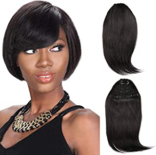 Brazilian virgin Human Hair clip in Bangs clip on Hair Extensions fringe Hair weave clip ins 8 inch/29g Hairpieces