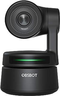 OBSBOT(オブスボット) 小型AI搭載PTZウェブカメラ AI追跡 オートフレームジェスチャーコントロール オーディオサポートソフトウェア WindowsとMacOS対応 ビデオチャット オンライン会議 オンラインクラス ライブストリーミング用
