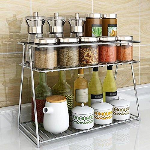 MAIKA HOME Kruidenrek met dubbele kruiden, keukengerei, kruidenplank en rekken