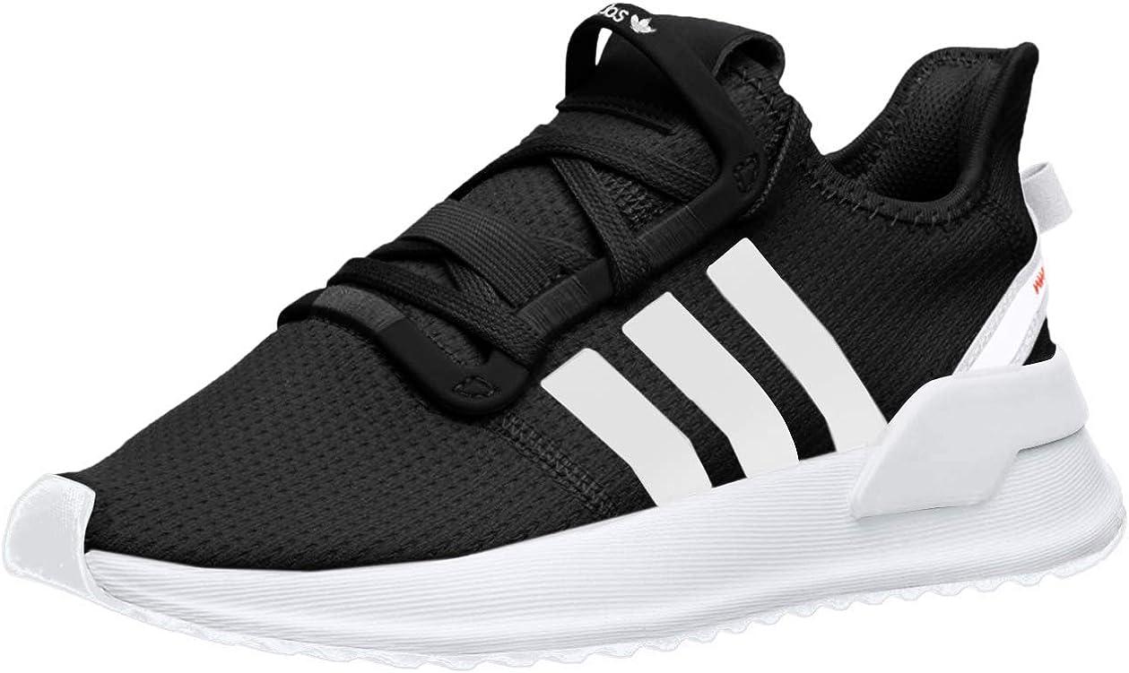 adidas Originals Unisex-Baby U_Path Running Shoe, Black/White/Shock red, 5K M US Toddler