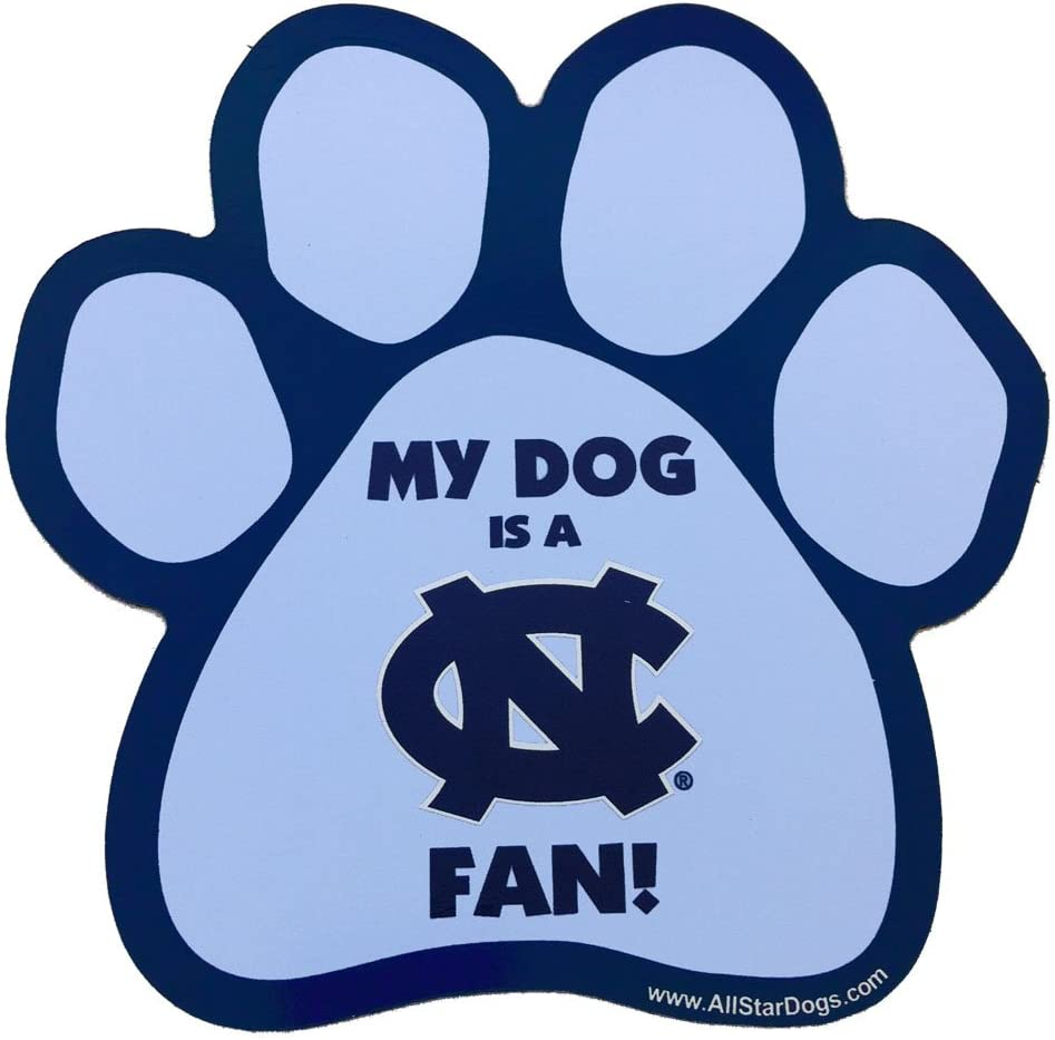 All Star Dogs Max 53% OFF NCAA North Carolina Paw Shaped Magnet famous Heels Tar