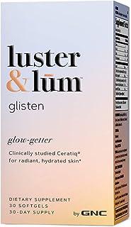 Luster & lum Glisten, Formulated for Skin Hydration, Clinically Studied Ingrediants, Vegan, 30 Softgels