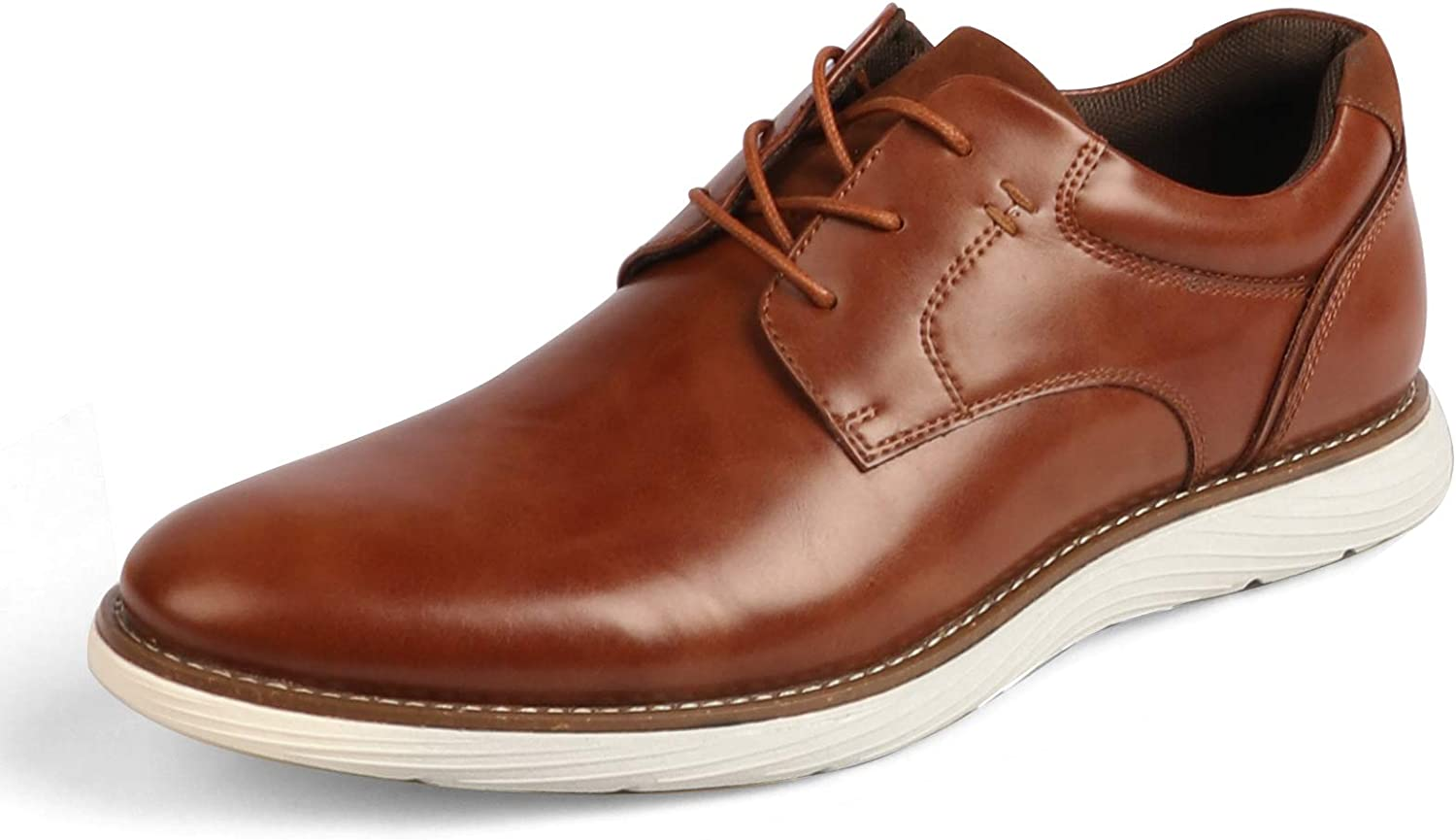 Luckyway Men's Leather Shoes Dress Lace Up Series Casual Oxford Shoe