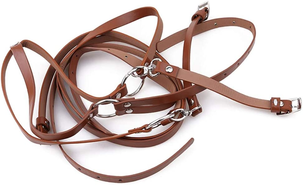 Flybloom Unisex Clip-On Suspenders Elastic Y-Shape Adjustable Belt Accessory Apparel(Brown)