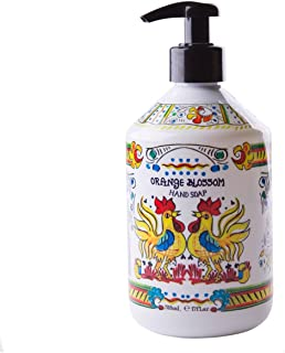 World Market Deruta Orange Blossom Hand Soap - Perfect Kitchen Decor Antibacterial Soap - Organic Liquid Handsoap with Italian Soap Dispenser - Hand Sanitizer to Everyone Bathroom or Kitchen 17 Ounce