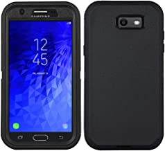Case for Galaxy J7 2017, Heavy Duty with [Built-in Screen Protector] Tough 4 in1 Rugged Shorkproof Cover for Samsung Galaxy J7 (2017 Release)/J7 V/J7 Sky Pro/J7 Perx/J7V (Black)