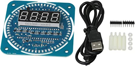 Yibuy LED DS1302 Electronic Clock Module Replace Part 5V with Mounting Parts