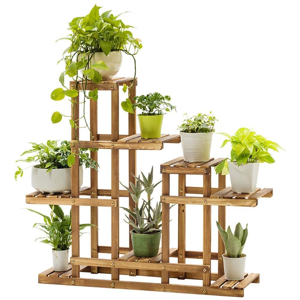 JANRON - Soporte de Madera para Pedestal de Plantas, Flores, Maceta, Almacenamiento para Interior y Exterior, jardín, jardín, Exterior, Patio, 70 x 25 x 70 cm: Amazon.es: Hogar