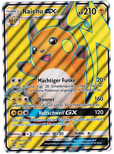 Pokémon - Fullart Foil Raichu-GX SM90 übergroße Promokarte - deutsch